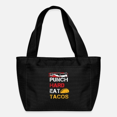 Fist Boxing Tee, Punch Hard Eat Tacos - Lunch Box