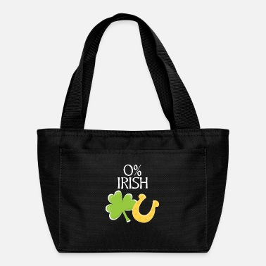 Funny 0% Irish - St. Patrick's Day - Shamrock - Lunch Bag