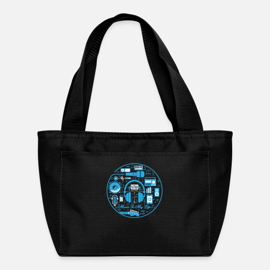 Birthday Bags & Backpacks - Music Musician - Lunch Bag black