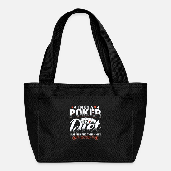 Ace Bags & Backpacks - Poker Player Gambling Texas Holdem Casino Gift - Lunch Bag black