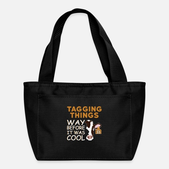 Gift Idea Bags & Backpacks - Things Marked Before It Was Cool - Lunch Bag black