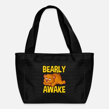 Cub Bearly Awake Half Asleep Baby Bear Cub Pun - Lunch Box