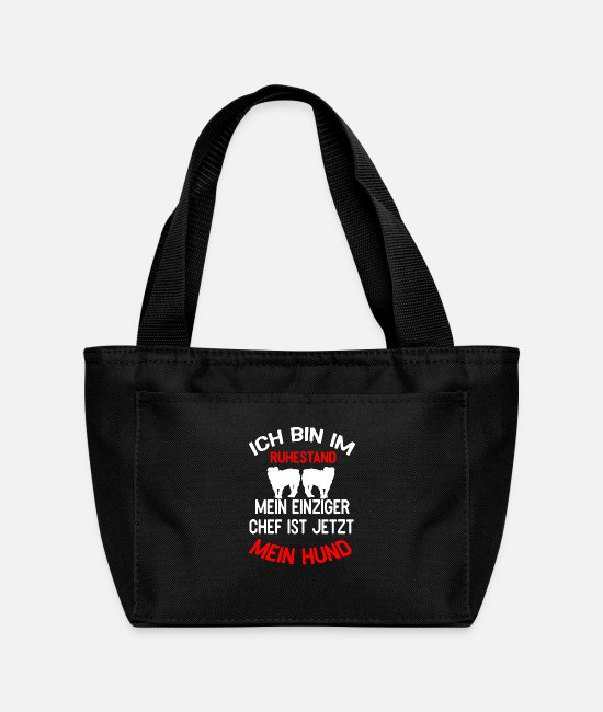 Hund Bags & Backpacks - Ich bin im Ruhestand Chef Hund - Lunch Bag black