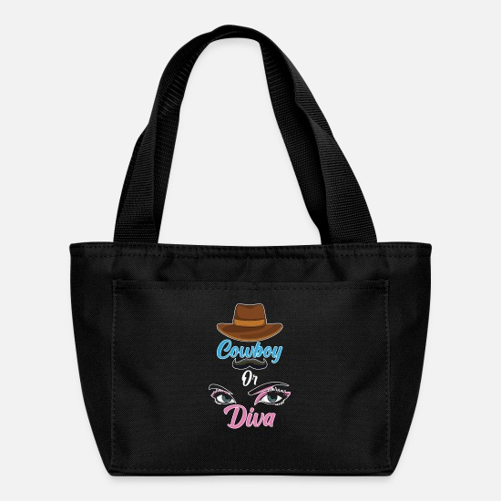 Love Bags & Backpacks - Pregnancy Announcement Funny Gender Reveal - Lunch Bag black