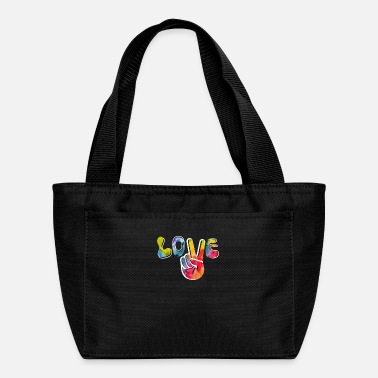 Freedom Love Peace Sign Retro 60s 70s Hippie Hand Tie Dye - Lunch Box