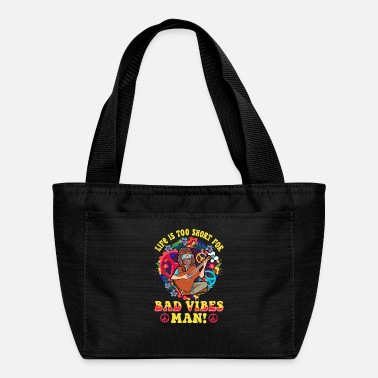 Life Is Too Short For Bad Vibes Man! Guitar Hippie - Lunch Bag