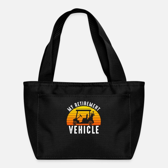 Funny Bags & Backpacks - My Retirement Vehicle Golf Cart - Lunch Bag black
