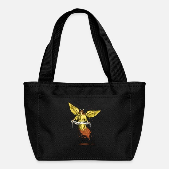 Gift Idea Bags & Backpacks - Archangel Needs Coffee - Lunch Bag black