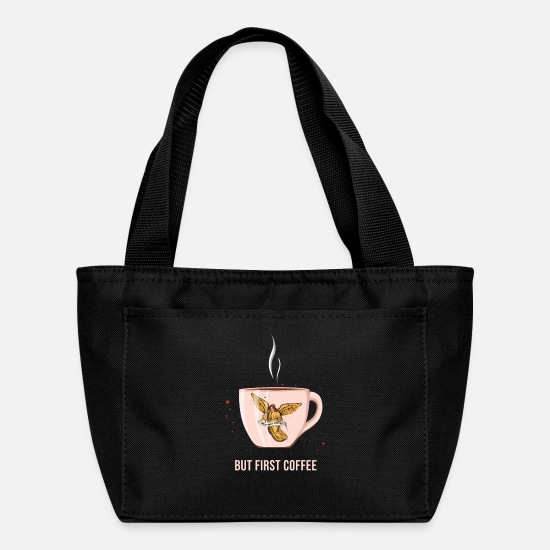 Gift Idea Bags & Backpacks - Archangel Needs Cup Of Coffee - Lunch Bag black
