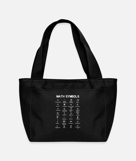 Minus Bags & Backpacks - Math Symbols - Lunch Bag black