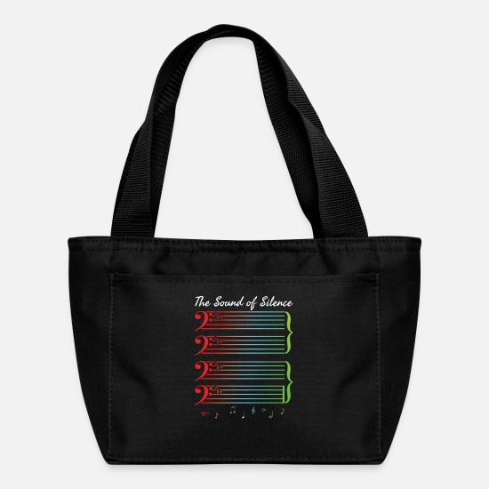 Song Bags & Backpacks - The Song Of Silence - Lunch Bag black