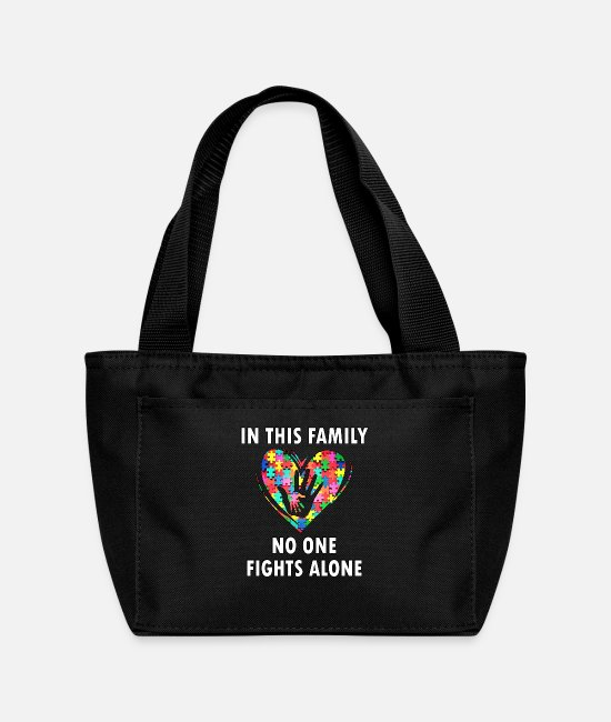 Autism Bags & Backpacks - Autism Awareness - Lunch Bag black