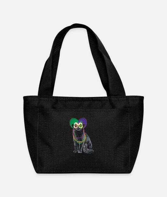 Celebrate Bags & Backpacks - Cat Mardi Gras Street Party Carnival Festival Gift - Lunch Bag black