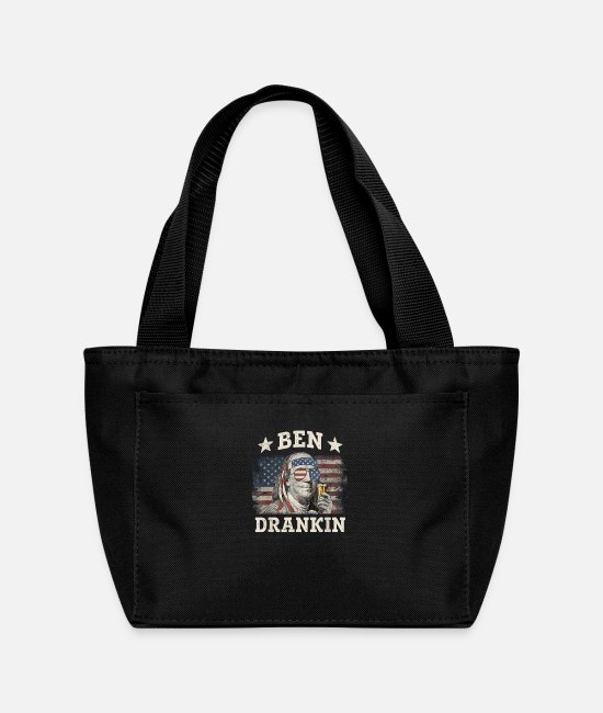 Presidents Day Bags & Backpacks - Ben Drankin Shirt - Lunch Bag black