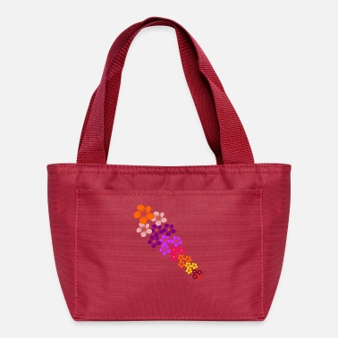 Tendril Pattern colorful flowers tendril, blooming flower, blooms - Lunch Bag
