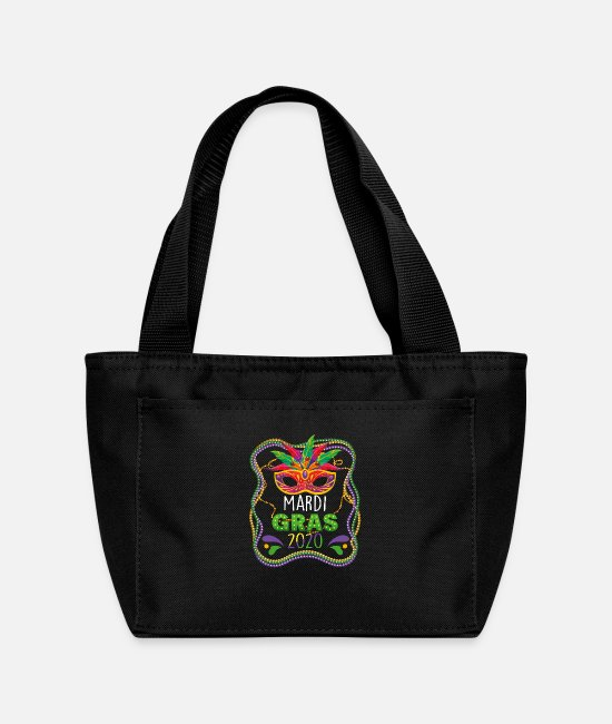 Festival Bags & Backpacks - Mardi Gras 2020 Mask Party Street Festival Gift - Lunch Bag black