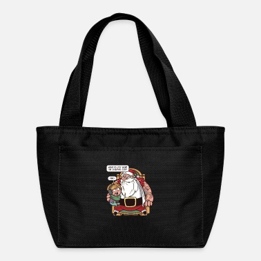 Santas Lap Funny tattoed santa with girl on lap mercy quote - Lunch Bag