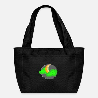 Skull And Crossbones Moon Green Clouds and Gothic Skull - Lunch Bag