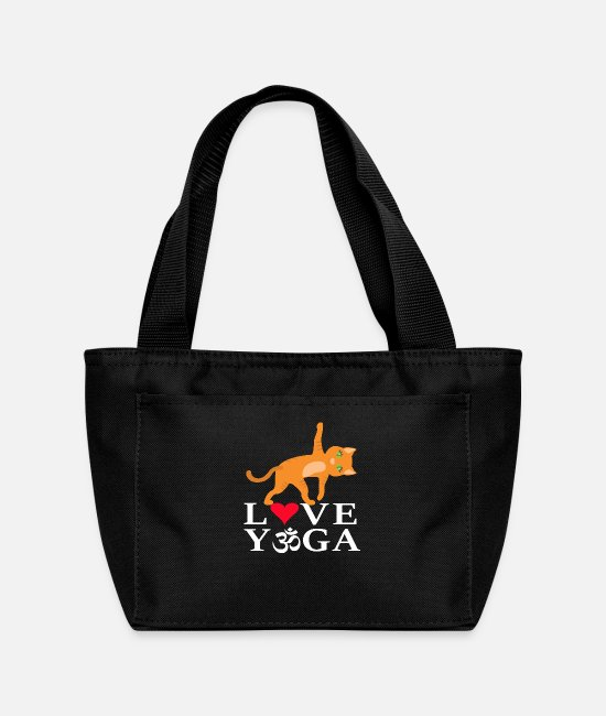 Zen Bags & Backpacks - My lovely Cat practices YOGA - Lunch Bag black