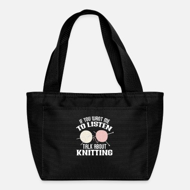 Wool Knitting Craft - Lunch Bag