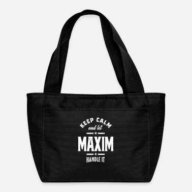 Maxim Maxim Personalized Name Birthday Gift - Lunch Bag