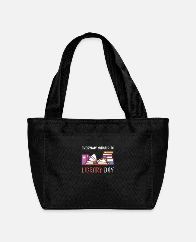 Poem Bags & Backpacks - Bücherei Tag - I Love Reading - Bookie - Lunch Bag black