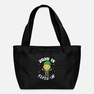 Satire 2020 Is Elfed Up Funny Christmas Pajama Xmas Match - Lunch Bag