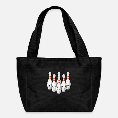 Pin Funny Bowlingteam Destroyed Bowling Pins Strike Gi - Lunch Bag