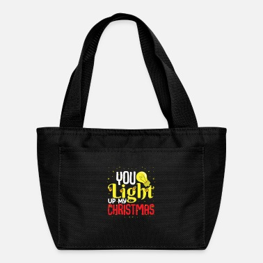 Snowboard You light up my christmas winter shirt design - Lunch Bag