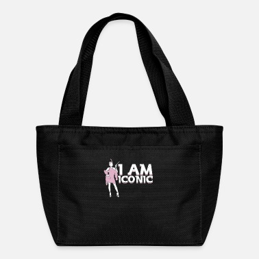 Hollywood Powerful trendy classy Woman I am Iconic fashion - Lunch Bag