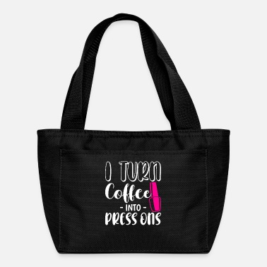 Name Turn Coffee Funny Nail Tech Business Press On - Lunch Bag
