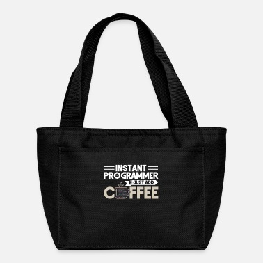 Read Instant Programmer Add Coffee Programmer Coding - Lunch Bag