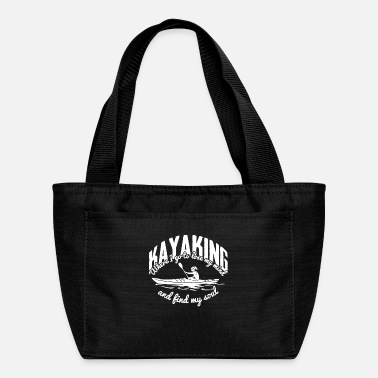 Wet Kayaking funny saying Kayaker Boating Paddling - Lunch Bag