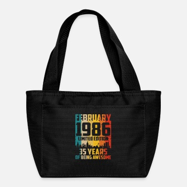 Vintage 35th Birthday 35 Years Born In 1986 February - Lunch Bag