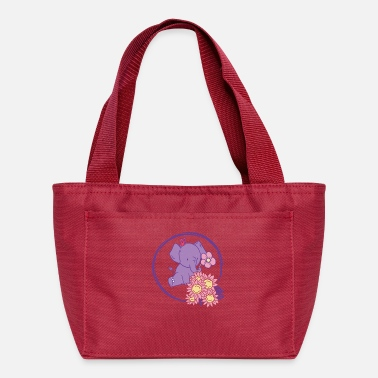 The Office Cute Save Elephants Flowers - Lunch Bag