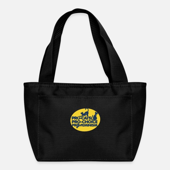 Pro-cats Pro-choice Pro-feminism Bags & Backpacks - Pro-cats pro-choice pro-feminism - Lunch Bag black