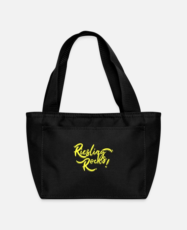 Wine Festival Lunch Boxes - Riesling Rocks! - Lunch Bag black
