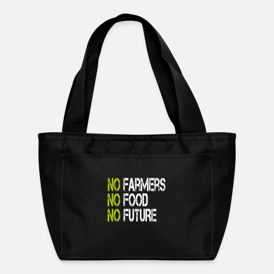 Agriculture Bags & Backpacks - No Farmers No Food No Future Demonstration - Lunch Bag black