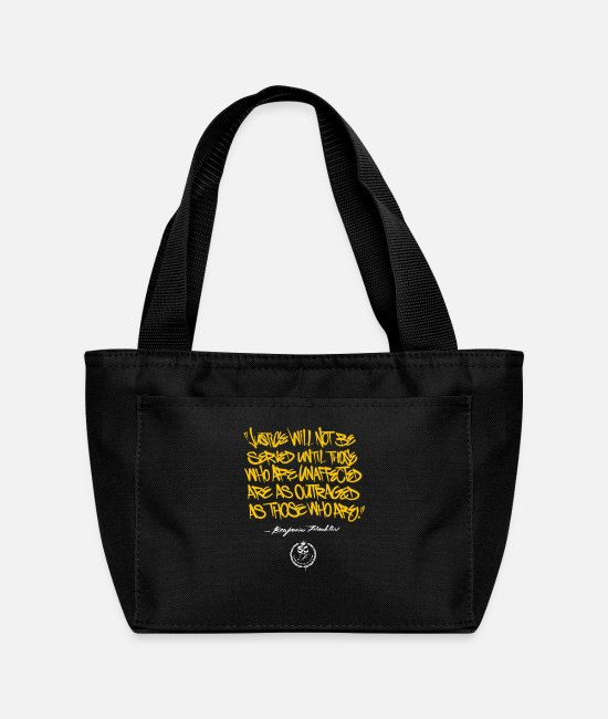 Quote Bags & Backpacks - Ben Franklin Quote - Lunch Bag black