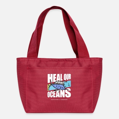 Coral Overfishing Protest Earth Day Climate Change Coral - Lunch Bag