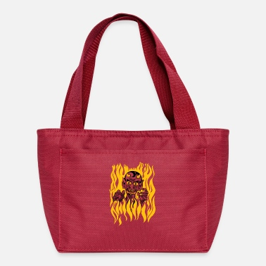 Scary Halloween Vintage Devil Tattoo Design - Lunch Bag