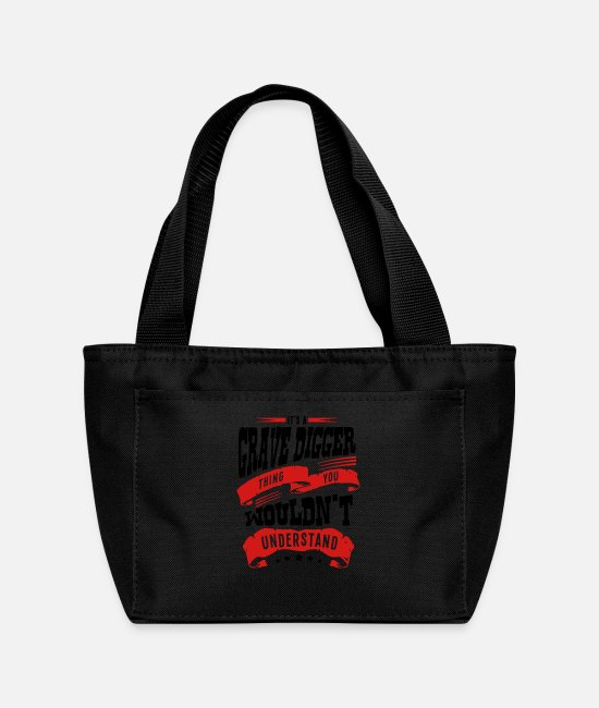 Shovel Bags & Backpacks - its a grave digger thing you wouldnt und - Lunch Bag black