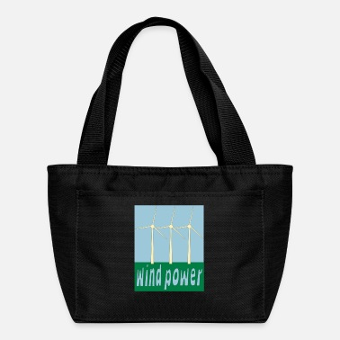 Wind Wind Power With Wind Turbines - Lunch Bag