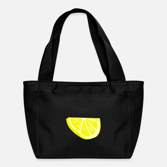 Half Bags & Backpacks - half slice of lemon - Lunch Bag black