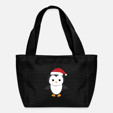 December Penguin Christmas Hat - Lunch Bag