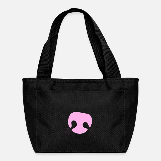 Nose Bags & Backpacks - Pink Whimsical Dog Nose - Lunch Box black