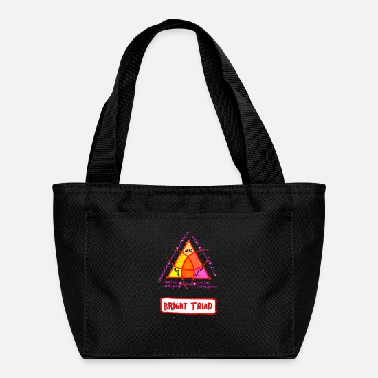 Autism Awareness Day Bags & Backpacks - Bright Triad - Lunch Bag black