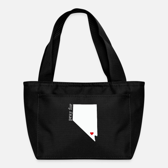 Vegas Bags & Backpacks - Pray For Las Vegas - Las Vegas 01 October 2017 - Lunch Bag black