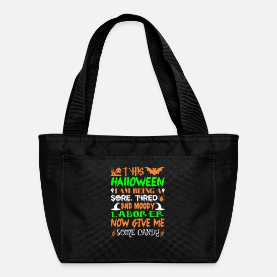 Moody Bags & Backpacks - This Halloween Being Tired Laborer Candy - Lunch Bag black