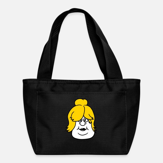 Sexy Mom Bags & Backpacks - face head woman girl sexy hot female fat fat clip - Lunch Bag black